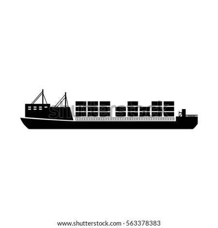 Vector Cargo Ship Icon Vessel Icon Stock Vector 531742732 ...