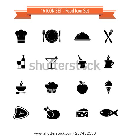 Cooking,food and kitchen icons set