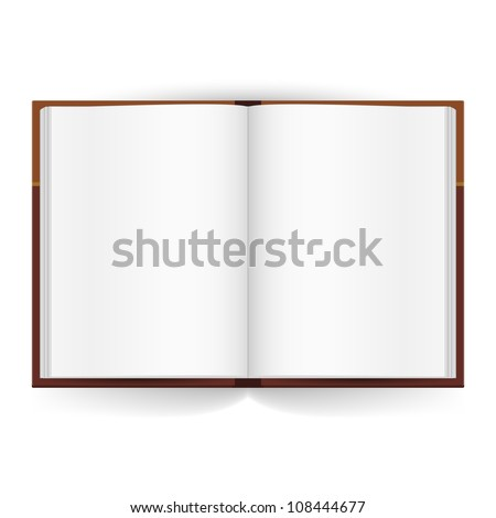 Cool Open book with white pages. Illustration on white