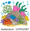 Coral reef theme image 1 - vector illustration. - stock vector