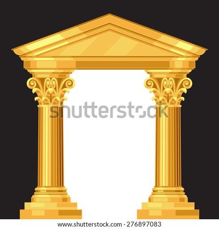 Classic Corinthian Column Arch 3d Rendering Stock