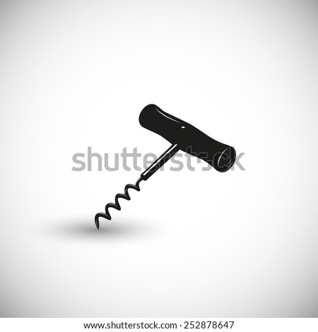 Corkscrew illustration - 3d view design.