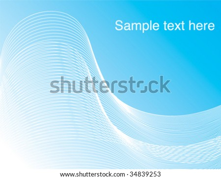 Corporate Business Template Background (Blue wave design). Vector.