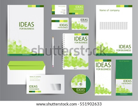 Corporate Identity Template Design Business Stationery Stock ...