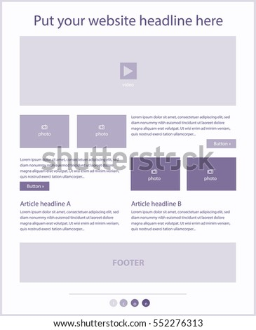 Corporate vector layout templates for business or non-profit organization