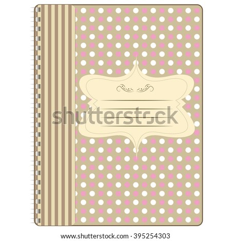Cover for notebook notepad yl vector
