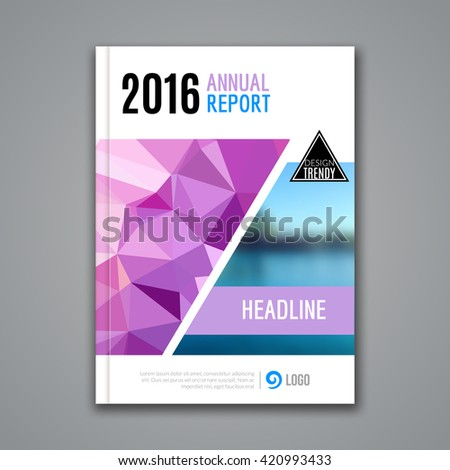 Cover Report Business Colorful Triangle Polygonal Geometric pattern Design Background, Cover Magazine, Brochure Book Cover Template, blurred nature.