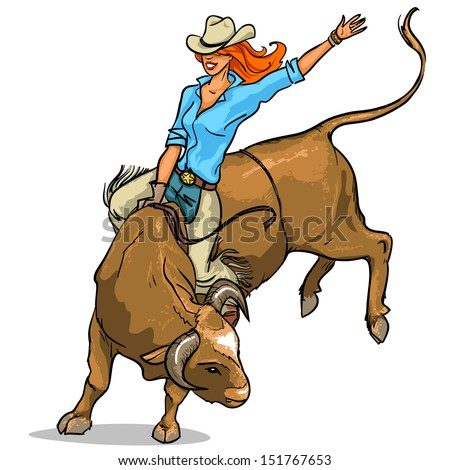 Horse Throws Off Cowboy Vector Illustration Stock Vector 76790086 ...