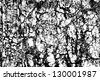 Cracked rock black and white vector  background - stock photo