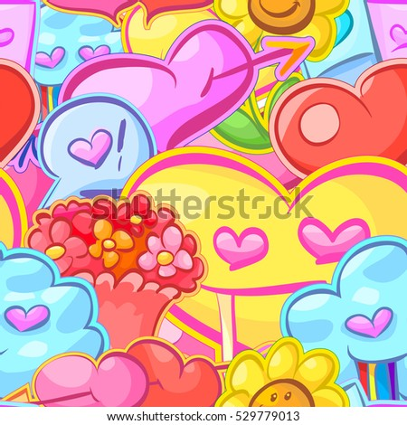 colorful cartoon Love Wallpaper : Seamless Pattern Decorative Fruits Stock Vector 171349799 - Shutterstock