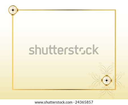 Cream gold background 2 - vector