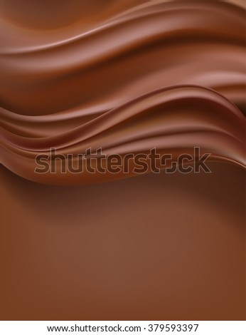 creamy chocolate vertical background. vector