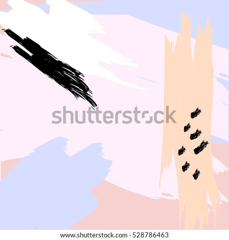 Creative artistic abstract background. Hand Drawn texture. Trendy design poster, cover, card design. Vector illustration