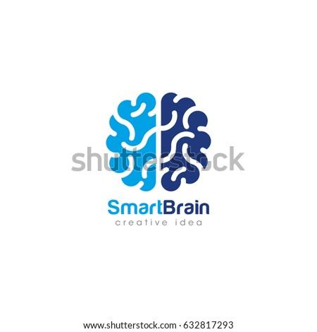 Brain Logo Silhouette Top View Design Stock Vector ...