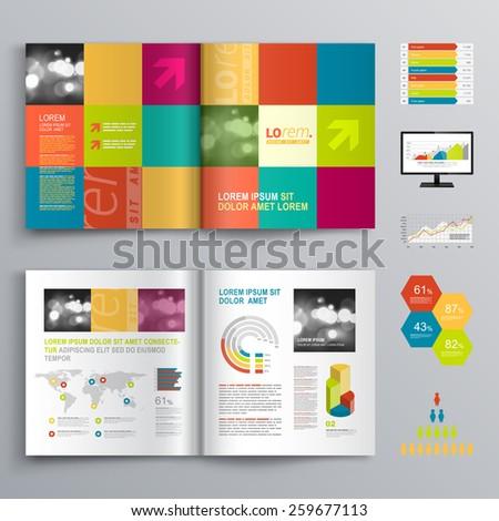 Vector Brochure Flyer Magazine Cover Booklet Vector – Kindergarten Brochure Template