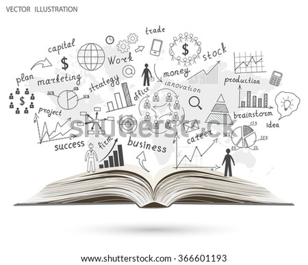 Creative drawing world map graphs charts vectores en stock 266936942 creative drawing world map graphs and charts business strategy plan concept idea on an open gumiabroncs Images
