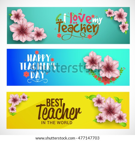 Creative header or banner of teachers day celebration.
