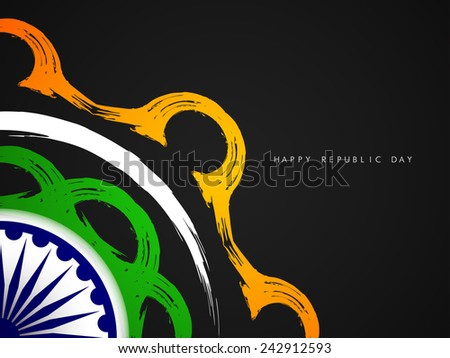 Creative Indian flag theme background design.
