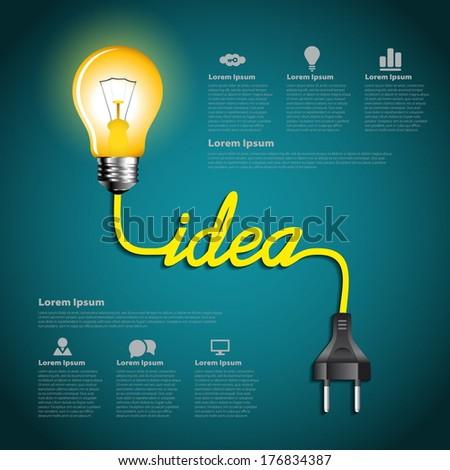Savings Concept Creative Light Bulb Idea Stock Vector 203482687 ...