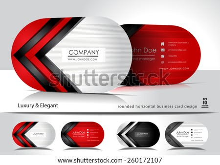 Creative oval business cards
