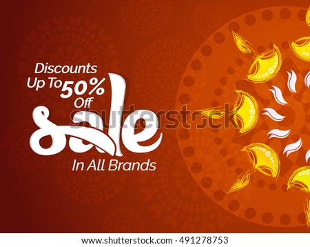 creative vector abstract for Diwali Sale discounts upto 50% with nice and beautiful design illustration in a background.