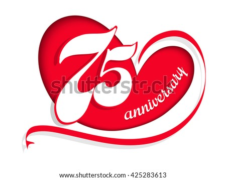 creative vector abstract for 75th Anniversary Celebration with creative illustration in a background.