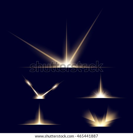 Creative vector set of glow light effect stars bursts with sparkles isolated on black background. For illustration template art design, banner for Christmas celebrate, magic flash energy ray.