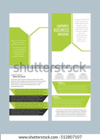 Brochure design business brochure template creative stock for Nice brochure templates