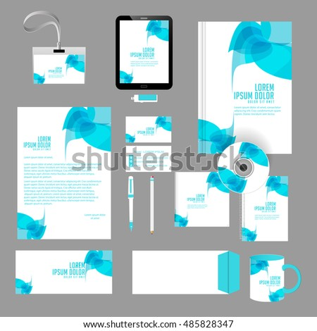 Creative Vector Templates Office Stationery Creative Stock Vector ...
