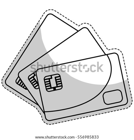 credit card icon over white background. mobile payments design. vector illustration