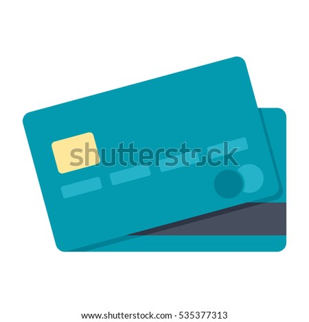 Credit card simple icon in flat style