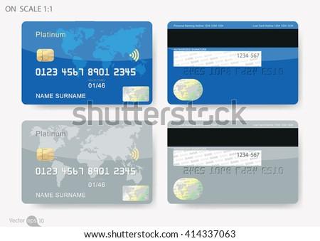 Credit Card Sample Illustration Detailed Credit Stock Vector ...