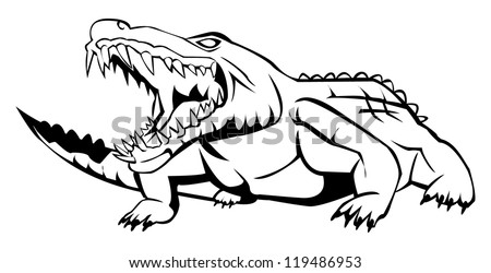 Crocodile hunter coloring pages ~ Cartoon gator Stock Photos, Images, & Pictures   Shutterstock