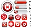 Cross red design elements for website or app. Vector eps10. - stock vector