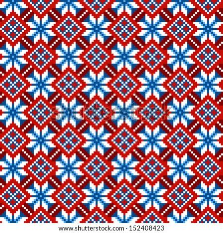 cross stitch ethnic seamless...