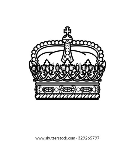Crown collection - vector silhouette black crown icons set