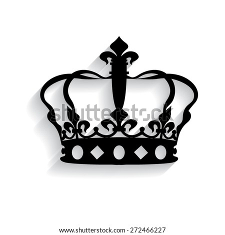 Crown icon with shadow