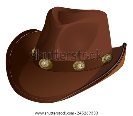 Crown leather cowboy hat accessory