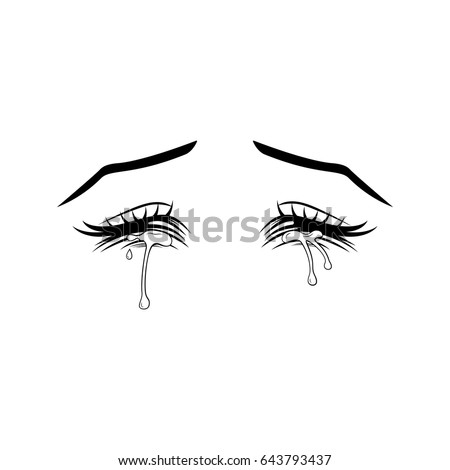 closed eye crying drawing drawing of eyes closed www imgkid com