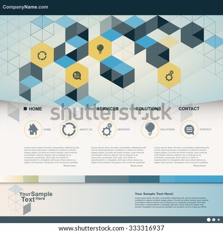 Cube Design Business Website for you. vector