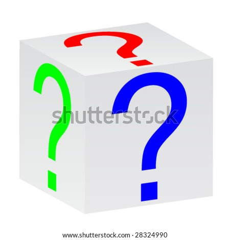 cube with question sign