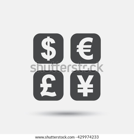 Currency exchange sign icon. Currency converter symbol. Money label. Flat currency exchange web icon on white background. Vector