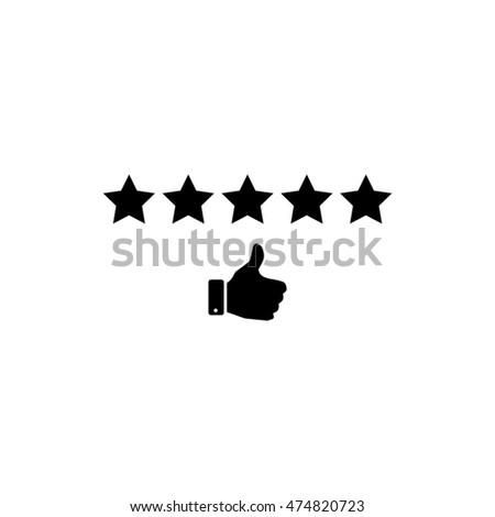 Customer rating icon, Five star rating icon,  vector illustration.