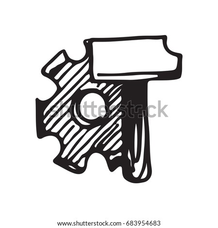 Stock Photo Doodle Style Power Tools Illustration In Vector Format