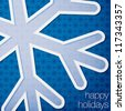 "Cut out ""Happy Holidays"" snowflake card in vector format. - stock vector"