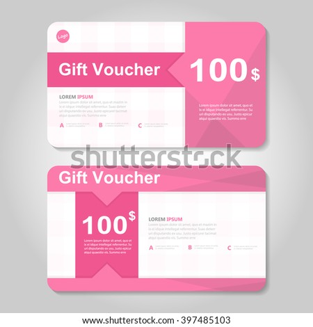 Gift Voucher Template Stock Vector   Shutterstock