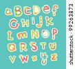 cute alphabet design. vector illustration - stock photo