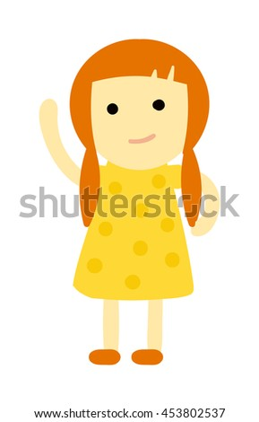 Cute baby kid girl and cute child character vector
