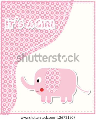 Cute baby shower card/Vector illustration