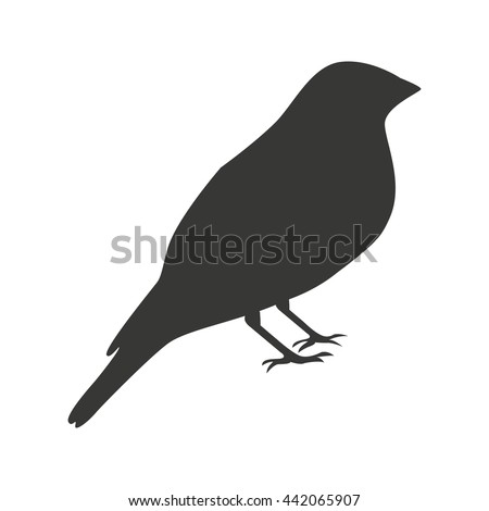 Silhouette Bird Wheatear Standing Stock Vector 159831056 ...